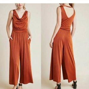 MAEVE Copper Jumpsuit with Pockets NWT